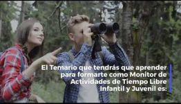 VÍDEO SOBRE EL TEMARIO Y LOS PUESTOS DE TRABAJO AL CONVERTIRTE EN MONITOR DE ACTIVIDADES DE TIEMPO LIBRE INFANTIL Y JUVENIL