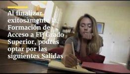 VÍDEO SOBRE LAS ASIGNATURAS Y LOS PUESTOS DE TRABAJO AL APRENDER ACCESO A FP GRADO SUPERIOR