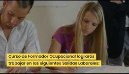 APRENDER Y CONVERTIRTE EN FORMADOR OCUPACIONAL: ASIGNATURAS Y LAS SALIDAS LABORALES