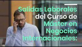 CURSO DE MÁSTER EN NEGOCIOS INTERNACIONALES: ASIGNATURAS Y LAS SALIDAS LABORALES