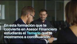 VÍDEO SOBRE LAS ASIGNATURAS Y LOS PUESTOS DE TRABAJO AL CONVERTIRTE EN ASESOR FINANCIERO