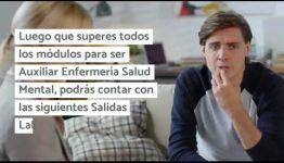 VÍDEO SOBRE LAS ASIGNATURAS Y LOS PUESTOS DE TRABAJO AL FORMARTE COMO AUXILIAR ENFERMERÍA SALUD MENTAL