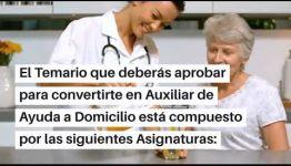 VÍDEO SOBRE EL TEMARIO Y LAS SALIDAS PROFESIONALES AL EDUCARTE COMO AUXILIAR DE AYUDA A DOMICILIO